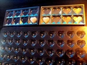 Forme sablon pentru turnat ciocolata forma inimioare