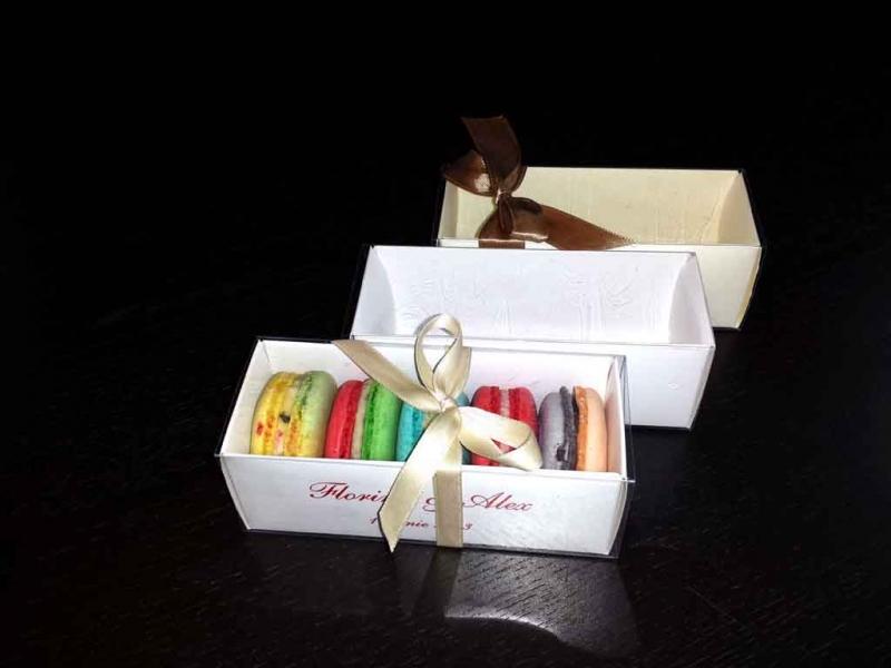 cutii macarons marturii nunta