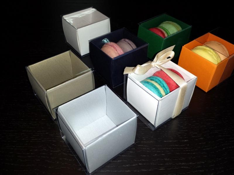 Cutiute carton doua Macarons