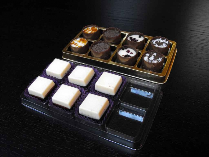 chese plastic transparent praline