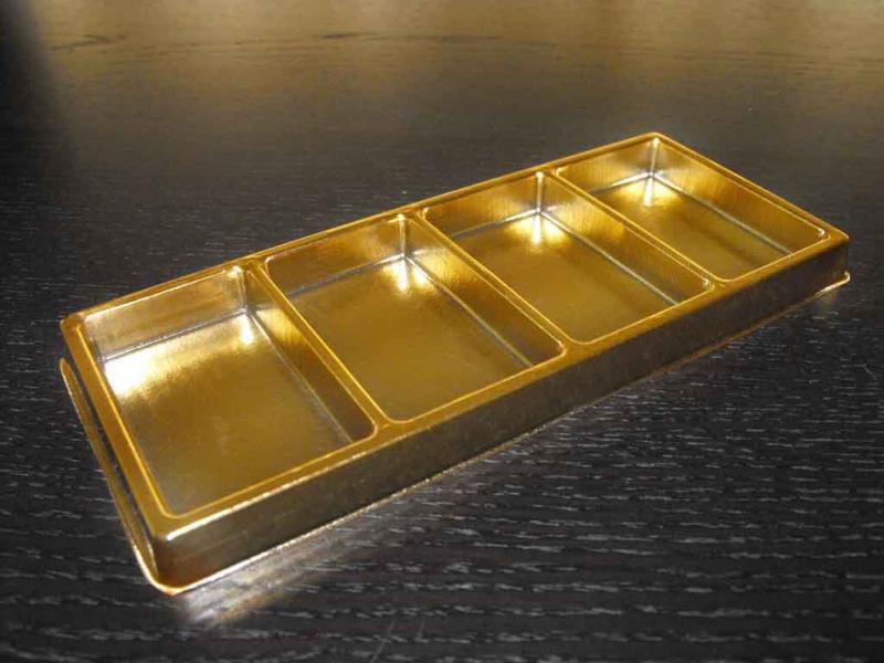 Chese pentru ciocolata chese aurii ciocolata Chese aurii ciocolata chese aurii cu patru compartimente 1572 4