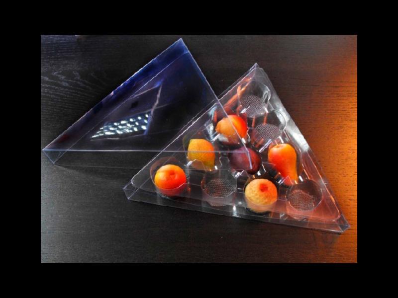 Cutii transparente forma triunghi