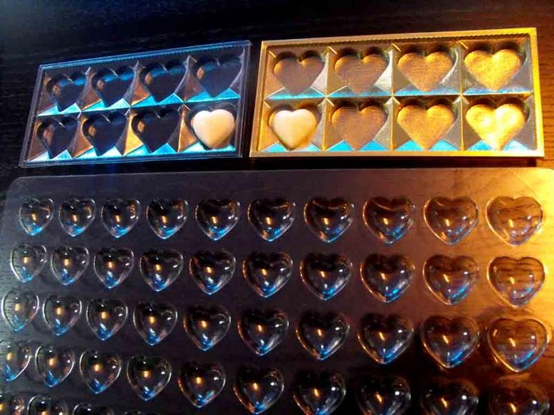 Forme sablon pentru ciocolata inimioare