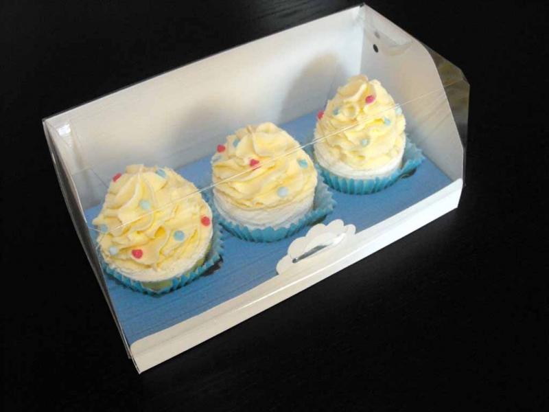 Cutii cu insert trei cupcakes