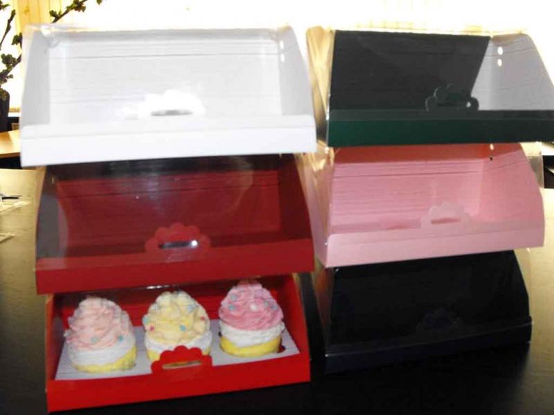 Ambalaje prajituri cutii cu insert trei cupcakes Cutii cu insert trei cupcakes cutii carton cu insert pentru 3 cupcakes 1596idCatProd16 91