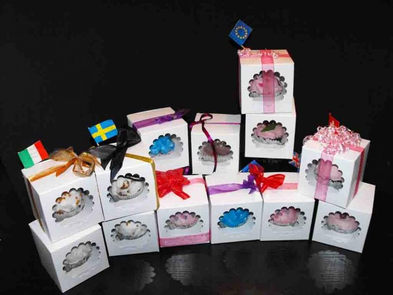 Cutii carton pentru un cupcakes