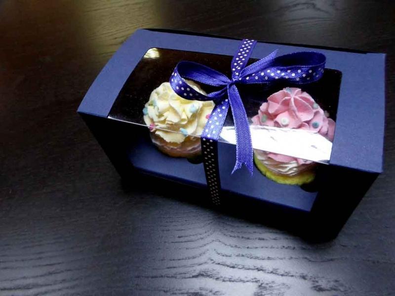 Cutii pentru doua cupcakes