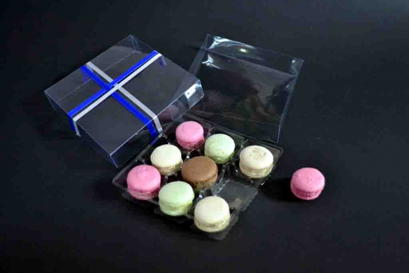 cutii plastic 9 Macarons