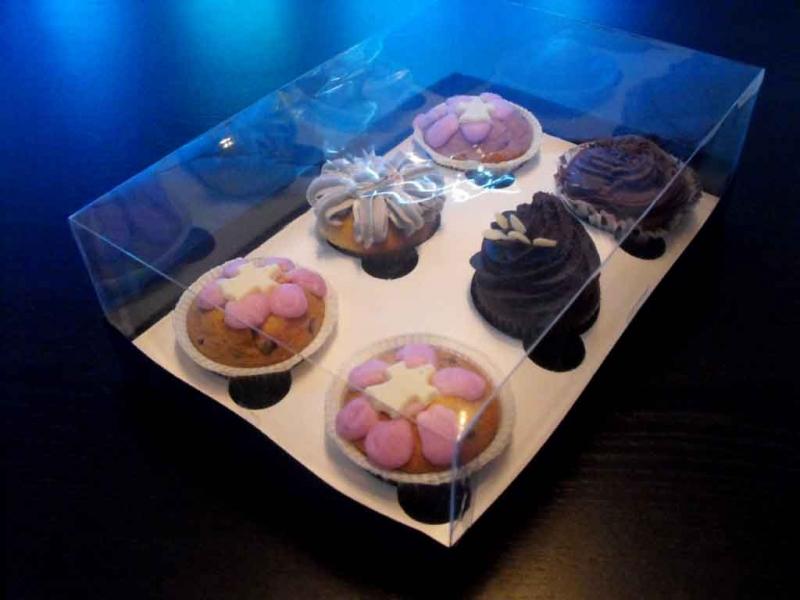 Cutii din plastic pentru muffins