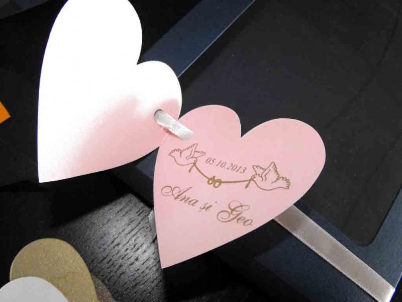 Etichete carticica in forma de inima