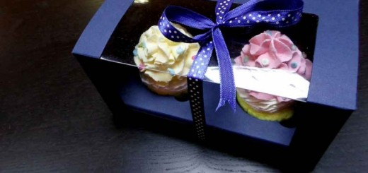 ambalaj pentru cupcakes cutii carton Cutii carton cu fereastra 2 cupcakes ambalaj pentru cupcakes 520x245