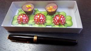 Cutie din carton si plastic pentru figurine din ciocolata