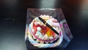 Cutie cu capac pentru torturi Marshmallow
