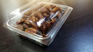 caserola cu capac din plastic transparent Caserola cu capac din plastic transparent pentru fructe uscate (model 4097) 7 1 300x169